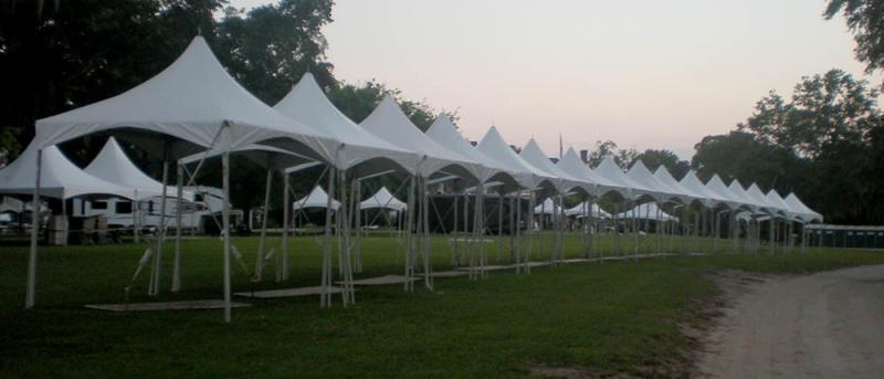 10x10 Peak Tents Stage Presence Event Rentals Charleston, SC