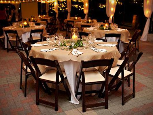 Tables Stage Presence Event Rentals Charleston, SC
