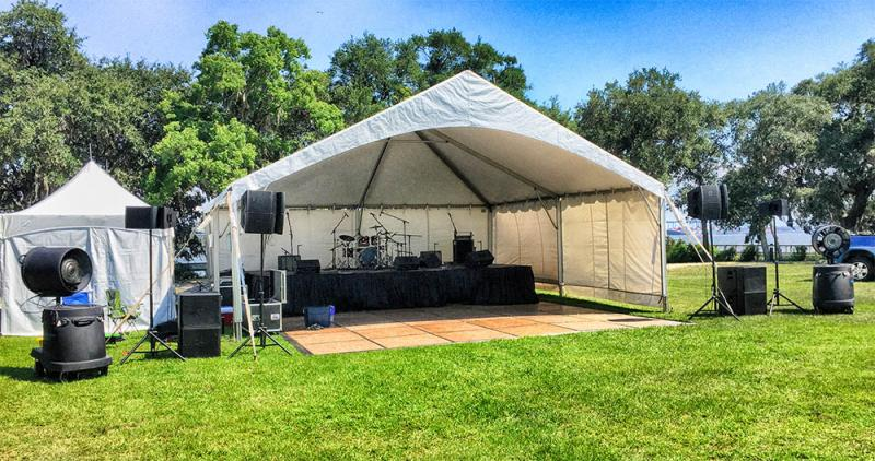 Covered Dance Floor and Climate Control Stage Presence Event Rentals Charleston, SC