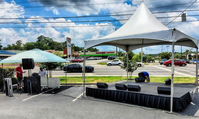 Stage and Tent Stage Presence Event Rentals Charleston, SC