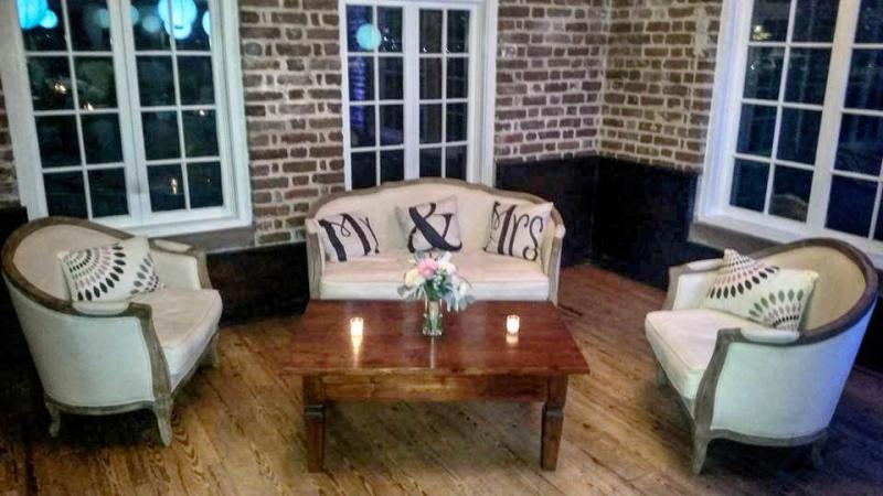 Southern Living Lounge Set Stage Presence Event Rentals Charleston, SC