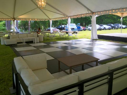 Tent and Dance Floor Stage Presence Event Rentals Charleston, SC