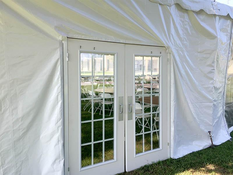 Tent Doors for Climate Control Stage Presence Event Rentals Charleston, SC