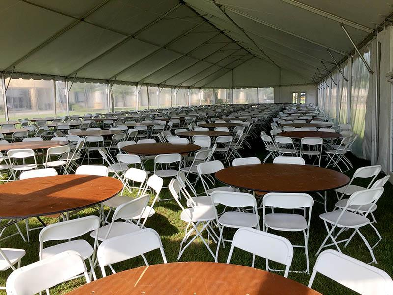 Tent, Tables and Chairs Stage Presence Event Rentals Charleston, SC